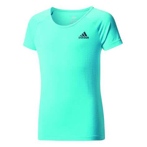 adidas Mädchen Trainingsshirt YG Prime Tee energy blue s17 black Größe 110,116,128,140,152
