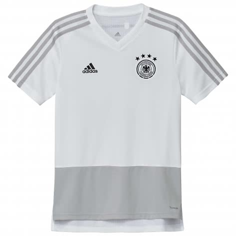 adidas Kinder DFB Trainingstrikot 2018 white grey two f17 black Größe 116,140,152,164,176