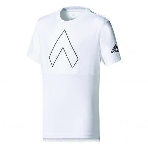 adidas Jungen Trainingsshirt YB Ace Tee white black Größe 110