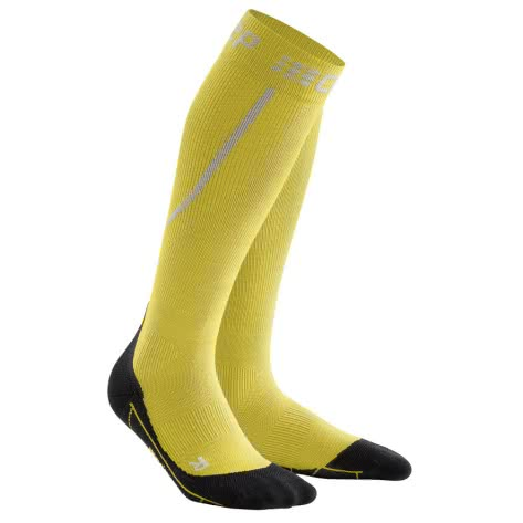 CEP Damen Laufsocken Winter Run Socks WP40-GU 25-31cm yellow/black   25-31cm