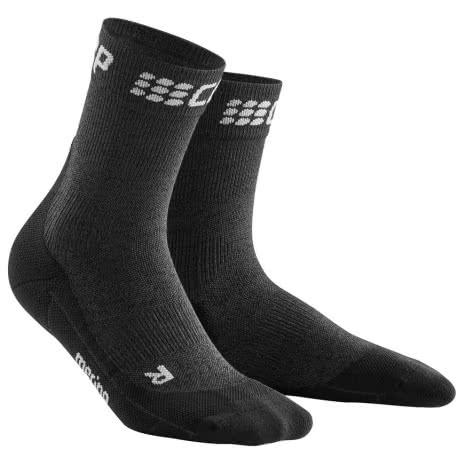 CEP Damen Laufsocken Winter Short Socks WP4B-TU 40-43 grey/black | 40-43