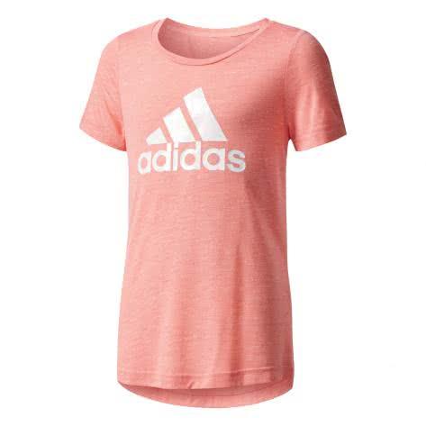 adidas Mädchen T-Shirt ID Tee tactile rose f17 white white Größe 116,128,140,152,164,170