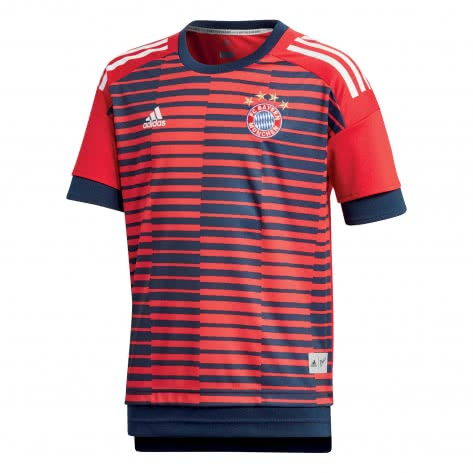 adidas Kinder FC Bayern München Home Pre Match Shirt fcb true red collegiate navy Größe 128,164