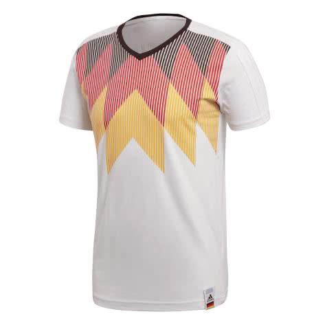 adidas Herren DFB T-Shirt Germany Country Identity Tee CF1734 XS White/Black | XS