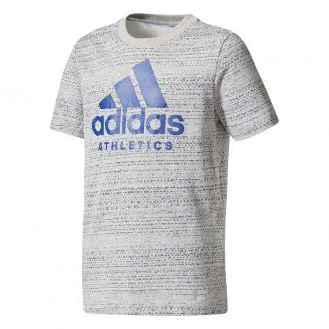 adidas Jungen T-Shirt Sport ID Tee medium grey heather black Größe 110,116,128,140,152,164,176