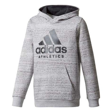 adidas Jungen Hoodie Sport ID medium grey heather/black Größe: 110