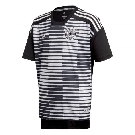 adidas Kinder DFB Home 2018 Pre Match Shirt white black Größe 128,164