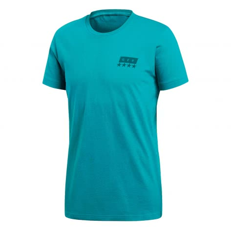 adidas Herren DFB T-Shirt Street Graphic Tee CF2482 XS eqt green/real teal | XS
