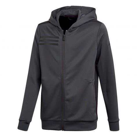 adidas Jungen Trainingsjacke Full Zip Hoodie carbon black Größe 116,128,140,152,164