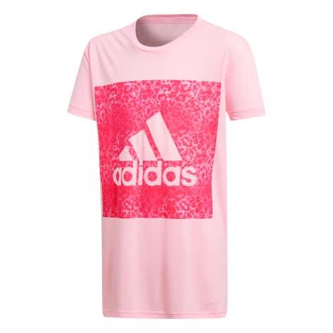 adidas Mädchen T-Shirt Essentials Logo in the Box Tee Haze Coral Real Coral Größe 110,116,128,140,152,164,170