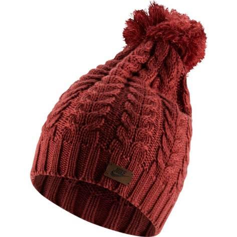 Nike Damen Mütze Knit Pom Beanie CI3650-661 Cedar | One size