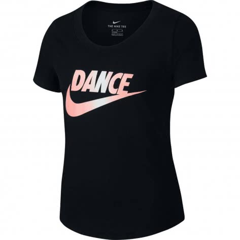 Nike Mädchen T-Shirt Scoop Dance Swoosh Tee CI8261-010 128-137 Black | 128-137