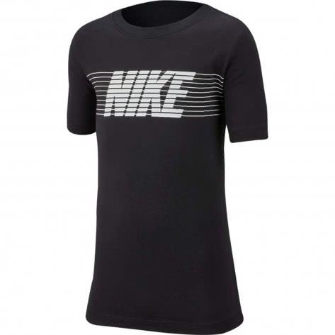 Nike Jungen T-Shirt Tee Therma Fleece CI9628-010 122-128 Black/White | 122-128