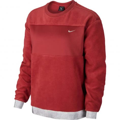 Nike Damen Pullover Icon Clash Therma Fleece Crew CJ0007-661 XL Cedar/Metallic Silver | XL