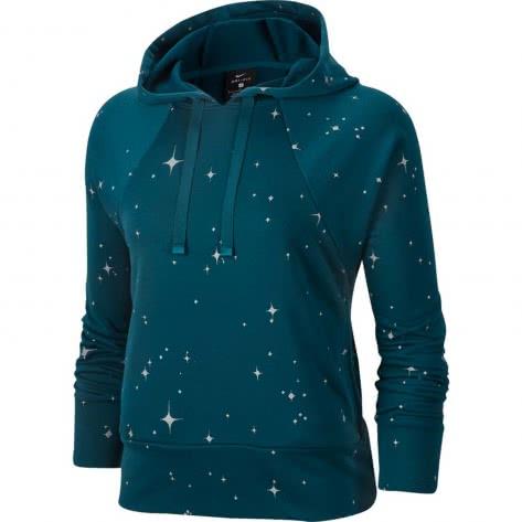 Nike Damen Kapuzenpullover Dri-FIT Get Fit Hoodie CJ0008-347 S Midnight Turq/Black | S