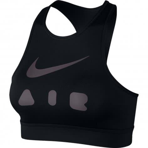Nike Damen Sport BH Swoosh Bra CJ0314-010 M Black/Thunder Grey   M