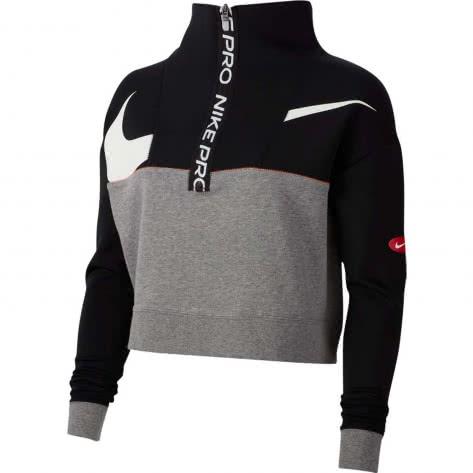 Nike Damen Pullover Dri-FIT Get Fit Top CJ3466-010 XL Black/Carbon Heather/White   XL