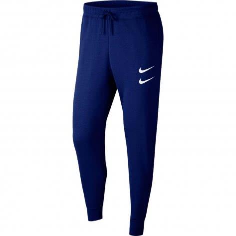 Nike Herren Trainingshose NSW Swoosh French Terry Pants CJ4880-455 XL Deep Royal Blue/White | XL