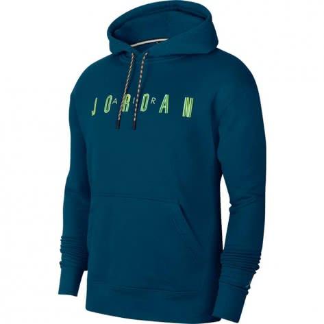 Jordan Herren Kapuzenpullover Sport DANN CK9567-432 XXL Valerian Blue/Volt | XXL