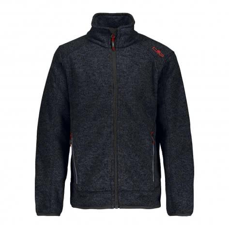 CMP Jungen Fleecejacke Knitted Jacket 3H60744 Antracite Grey Größe 104