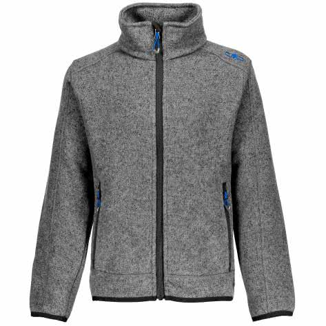 CMP Jungen Fleecejacke Knitted Jacket 3H60744 ARGENTO ANTRACITE ROYAL Größe 116,128,140,152,176
