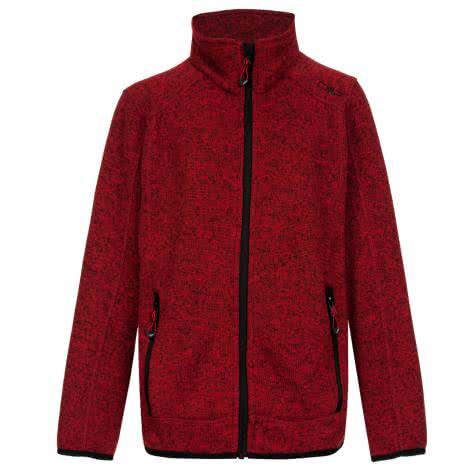 CMP Jungen Fleecejacke Knitted Jacket 3H60744 Ferrari Nero Größe 164,176