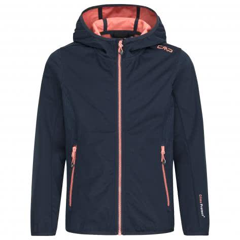 CMP Mädchen Jacke Fix Hood Jacket 3A52075 Black Blue Größe 116,128,140,164