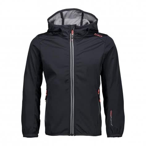 CMP Mädchen Softshelljacke Girl Fix Hood Jacket 38A5725 Antracite Größe 116,128,140,152,164,176