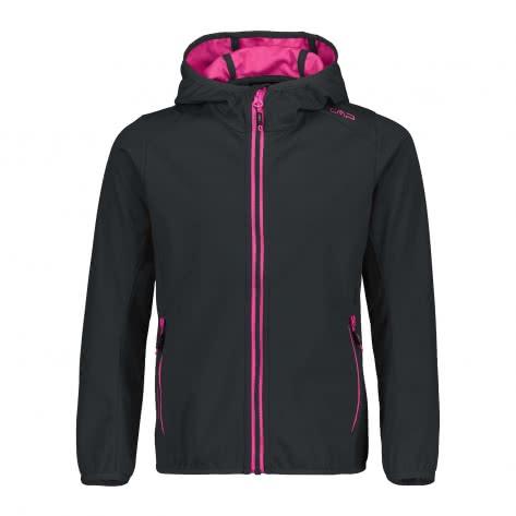 CMP Mädchen Softshelljacke Girl Jacket Fix Hood 39A5115 Antracite Geraneo Größe 104,110,116,128,140,152