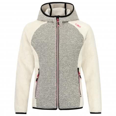 CMP Mädchen Fleecejacke Girl Jacket Fix Hood 39H0995