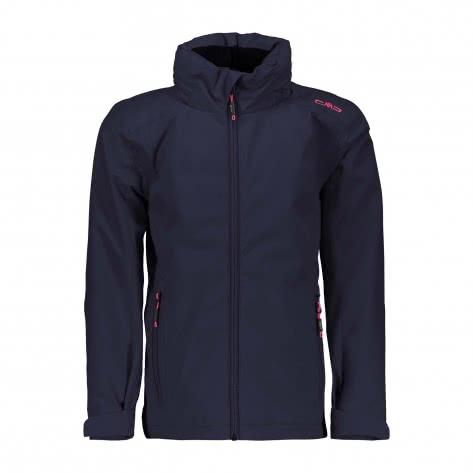 CMP Mädchen Softshelljacke Girl Jacket Zip Hood 38Z1935 Black Blue Größe 110,116,128,140,152,164,176