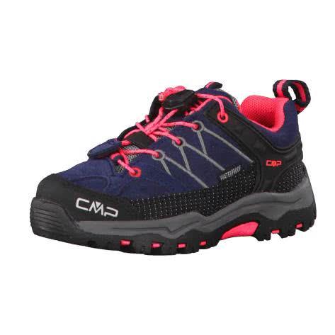 CMP Kinder Trekking Schuhe Rigel LOW WP 3Q13244K ANTRACITE RED FLUO Größe 25,26,27