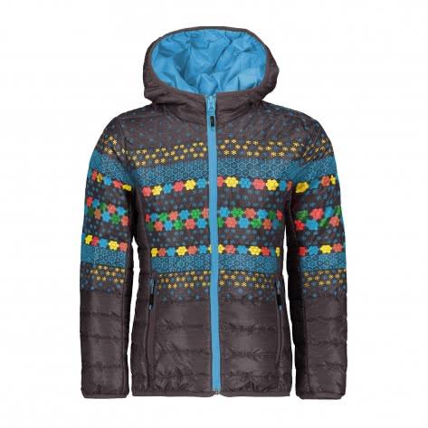 CMP Mädchen Jacke Girl Jacket Fix Hood 39Z7725 Antracite Curacao Größe 116,128,140,152,164,176