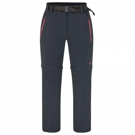 CMP Damen Hose Woman Stretch Long Pant Zip Off 3T51446CF