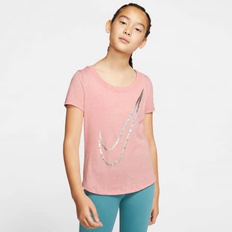 Nike Mädchen T-Shirt Tee Scoop Shine Swoosh CN2326
