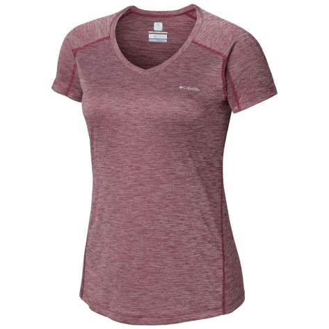 Columbia Damen T-Shirt Zero Rules 1533571-550 XL Wine Berry Heather | XL