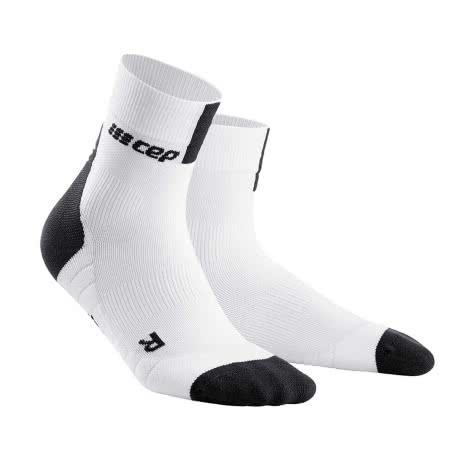 CEP Herren Laufsocken Short Socks 3.0 WP5BX-8X 45-48 white/dark grey | 45-48