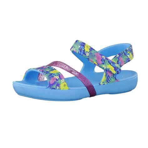 Crocs Kinder Sandale Lina K 204030 Electric Blue Größe 24 25,29 30