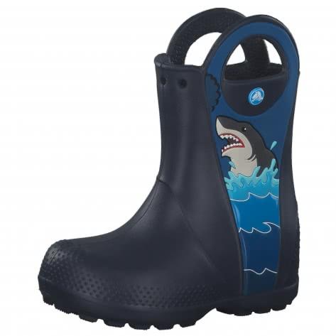 Crocs Kinder Gummistiefel Fun Lab Shark Patch Rain Boot 206174