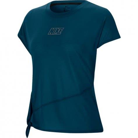 Nike Damen Trainingsshirt Dry SS Top Tie CU5025