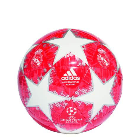 adidas Fussball Finale 18 Real Madrid Capitano CW4140 3 white/silver met./real coral s18/vivid red | 3