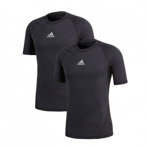 adidas Herren Shirt ALPHASKIN Short Sleeve 2Pack