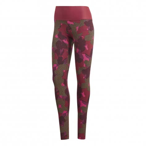 adidas Damen Tight believe this tight high rise AI CX0010 XXS noble maroon/print | XXS