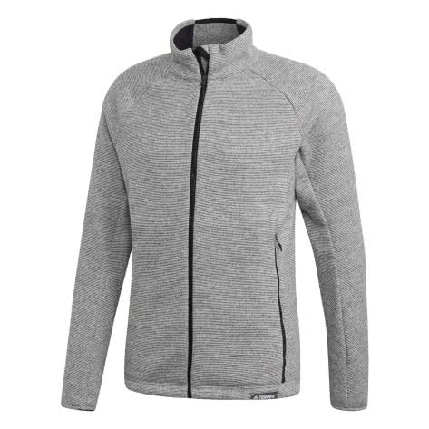 adidas TERREX Herren Fleecejacke Knit Fleece CY2147 56 medium grey heather | 56