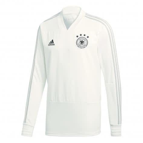 adidas Herren DFB Trainingsshirt Longsleeve 2018 CY7204 S white/grey two f17/black | S