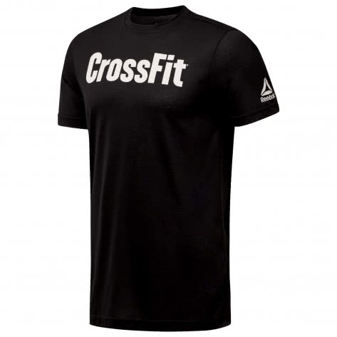 Reebok CrossFit Herren Trainingsshirt FEF Tee Speedwick DH3702 S Black/White   S