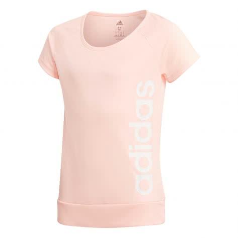 adidas Mädchen Trainingsshirt YG Gear Up Tee clear orange white Größe 128,140,152,164