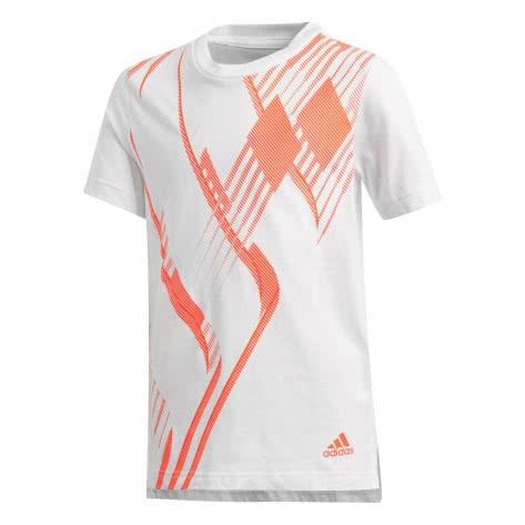 adidas Jungen T-Shirt Predator Tee white solar red Größe 110,116,128,140,152,164,176