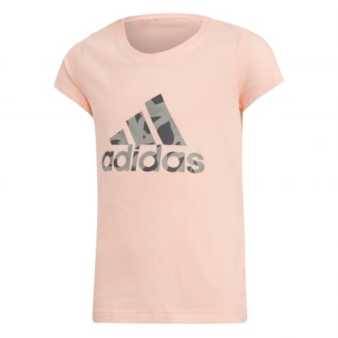 adidas Mädchen T-Shirt LOGO TEE haze coral mgh solid grey grey five Größe 110,152,170