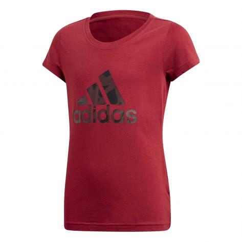 adidas Mädchen T-Shirt LOGO TEE noble maroon real magenta pantone Größe 110,116,128